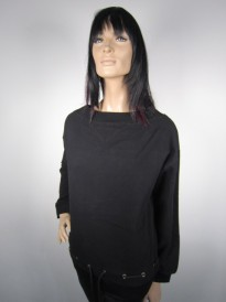 BLUZA NU DENMARK LUXURY WITH BINDING BLACK