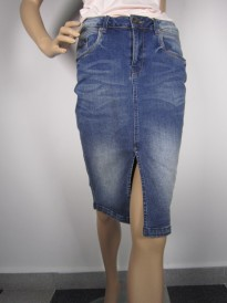 1.SPÓDNICA GARCIA JEANS 241-2932 SLIM ACQUA DENIM MEDIUM USED