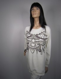 BLUZA NU DENMARK INDIAN WHITE